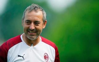 """Milan, Giampaolo: """"Obiettivo Champions. Suso? Contento che resti, ma il mercato non è finito"""""""