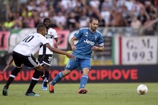 Juventus, grave infortunio per Chiellini: lesione al legamento crociato del ginocchio destro