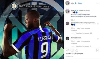Inter, ufficiale: Lukaku giocherà con la maglia numero 9