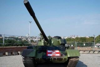 Stella Rossa, carro armato davanti allo stadio. Polemiche a non finire in Croazia