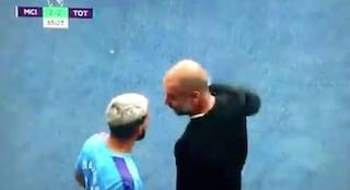 Lite tra Aguero e Guardiola, Manchester City fermato sul 2-2 dal Tottenham