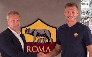Roma, calciomercato, Edin Dzeko rinnova fino al 2022