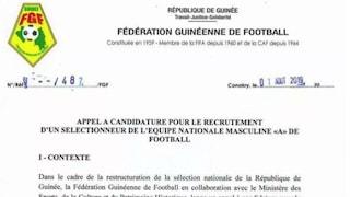 La Guinea cerca il nuovo commissario tecnico online: ecco i requisiti richiesti