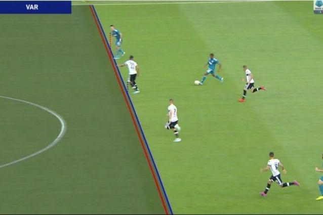 Il gol di Cristiano Ronaldo segnato contro il Parma ma annullato dal Var