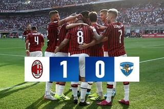 Milan, vittoria con fatica contro il Brescia: decide Calhanoglu