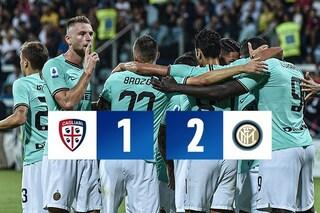 Inter d'acciaio: i nerazzurri battono il Cagliari per 2-1 e agganciano la Juve