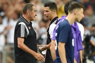 """Sarri e il patto con Cristiano Ronaldo: """"Voglio farti segnare 40 gol alla Juventus"""""""