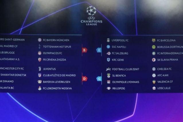 Champions League, ecco le 6 partite che Mediaset trasmetterà in chiaro