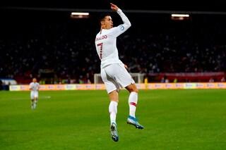 Cristiano Ronaldo a caccia del record di gol nelle qualificazioni europee col Portogallo
