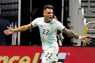Toro scatenato, Lautaro segna un tripletta con l'Argentina in 45 minuti