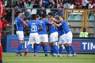 Qualificazioni Euro 2021, l'Italia Under 21 di Nicolato sorride: manita al Lussemburgo