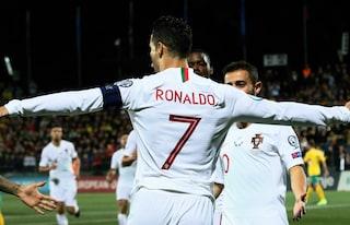 Euro 2020, Cristiano Ronaldo lancia il Portogallo con 4 gol e un nuovo record