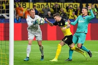 Champions ancora indigesta al Barcellona, col Borussia è 0-0. Ter Stegen eroe della serata