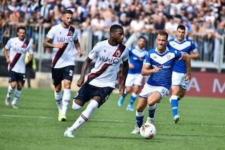 Brescia-Bologna 3-4, per la Lega il 3-3 è autogol di Sabelli non gol di Denswil