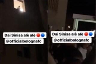 """""""Dai Sinisa alè"""": blitz dei giocatori del Bologna sotto la camera d'ospedale di Mihajlovic"""