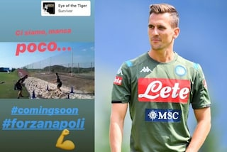 Arkadiusz Milik come Rocky Balboa: nella story su Instagram con Eye of the tiger