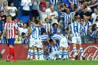 Atletico Madrid ko (2-0) con la Real Sociedad prima della sfida alla Juve in Champions