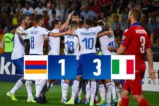 Brutta Italia ma il risultato è ottimo: Armenia battuta 3-1, Euro 2020 più vicino