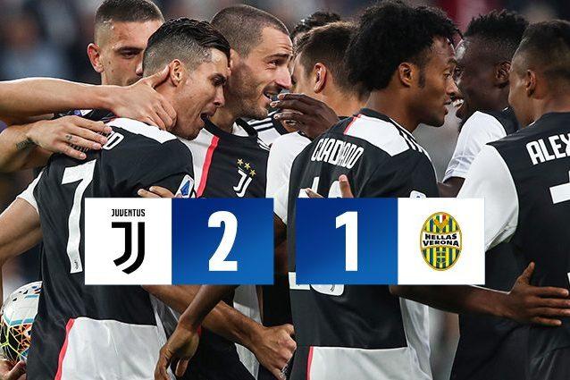 Calcio: Juventus batte 2-1 il Verona