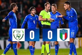 Italia Under 21, contro l'Irlanda finisce 0-0: Kean espulso per un fallo di reazione