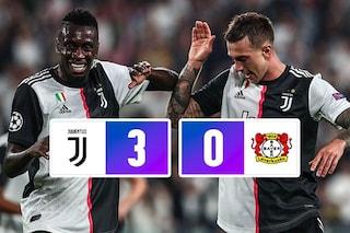 Champions, la Juventus batte il Bayer Leverkusen e va in testa al girone