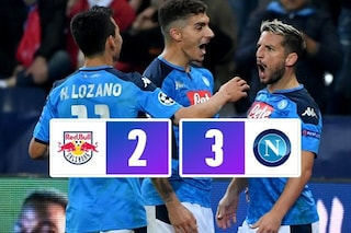 Doppietta di Mertens e gol di Insigne, il Napoli batte 3-2 il Salisburgo