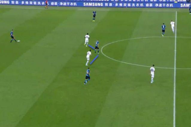 L'Inter fatica a costruire da dietro se gli avversari tengono Brozovic fuori dal gioco