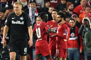 Fuochi d'artificio ad 'Anfield': 3-0 e poi 3-3. Ma finisce 4-3 fra Liverpool e Salisburgo