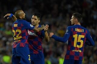 L'Inter domina per un tempo, Vidal rivoluziona il Barcellona