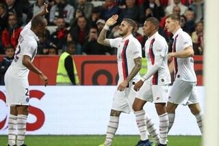 Mauro Icardi scatenato, gol e assist in Nizza-Psg 1-4