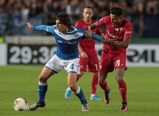 Corini e Montella si annullano: solo 0-0 al 'Rigamonti' fra Brescia e Fiorentina