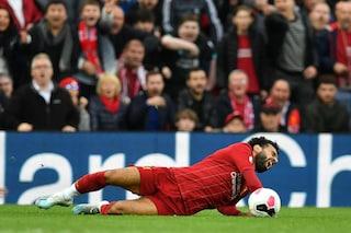 Liverpool, stop per Salah: distorsione alla caviglia, a rischio il Manchester United