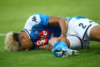 Napoli, infortunio Malcuit: lesione di legamento crociato anteriore e menisco mediale
