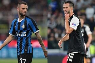 Inter-Juventus, il derby d'Italia passa dai piedi di Brozovic e Pjanic