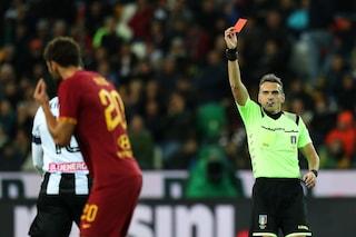 Moviola di Udinese-Roma, perché Irrati sbaglia a espellere Fazio