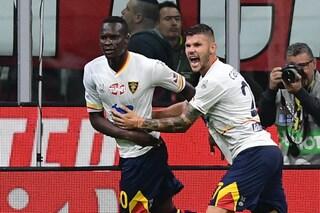 La conferma del Lecce contro il Milan: fuori casa ha un rendimento da Europa
