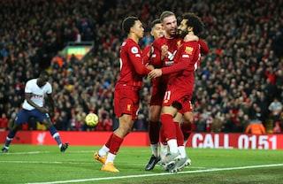 Premier, Liverpool batte in rimonta il Tottenham: Henderson e Salah firmano la nuova fuga
