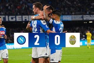 Doppietta di Milik: il Napoli torna alla vittoria contro l'Hellas Verona