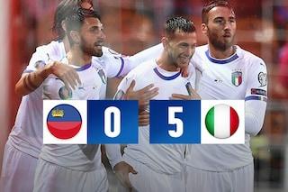 Euro 2020, l'Italia batte il Liechtenstein. Mancini come Pozzo: nona vittoria consecutiva