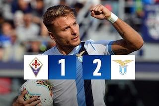 Immobile sbanca Firenze: la Lazio vince in extremis 2-1. A Montella non basta Chiesa