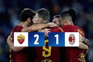 Roma-Milan, 2-1: Dzeko e Zaniolo aprono e chiudono il match dell'Olimpico
