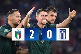 Jorginho e Bernardeschi battono una buona Grecia: l'Italia si qualifica a Euro 2020