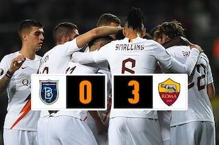 Europa League, la Roma si divora il Başakşehir in 45' (3-0): qualificazione ad un passo
