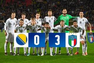 L'Italia domina e vince in Bosnia: decima vittoria consecutiva e record per Mancini