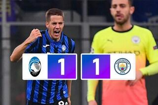 Champions, l'Atalanta mette paura al Manchester City: a San Siro termina 1-1