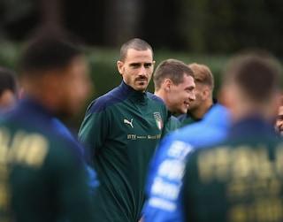 """Bonucci: """"Con la Bosnia per vincere. Caso Ronaldo? Ci chiariremo a Torino"""""""