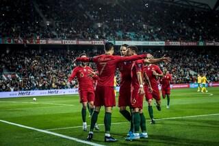 6-0 del Portogallo, tripletta Ronaldo. Inghilterra e Francia vanno a Euro 2020
