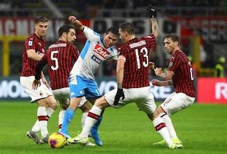 Milan-Napoli, le pagelle sul risultato di 1-1