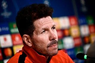 """Champions, Simeone: """"Non è una partita tra l'Atletico e Ronaldo. La Juventus è forte"""""""