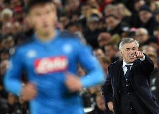"""De Laurentiis: """"Bravi Ancelotti e i giocatori alla faccia dei gufi. Basta parlare di multe"""""""